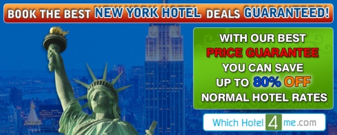 Book the best New York Hotel Deals online through Which Hotel 4 Me.com